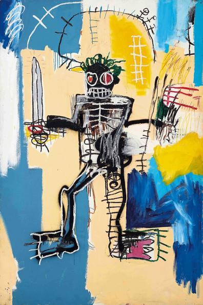 El guerrero de Jean-Michel Basquiat  convertida la obra de arte occidental más cara vendida en Asia