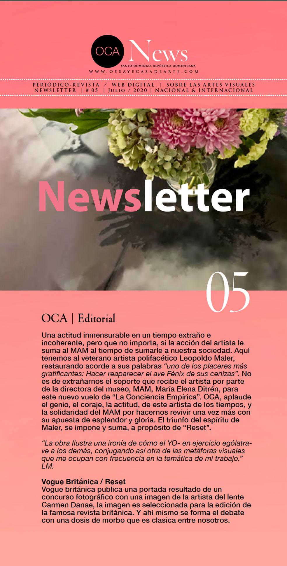 OCA|Newsletter 05 / Agosto, 2020