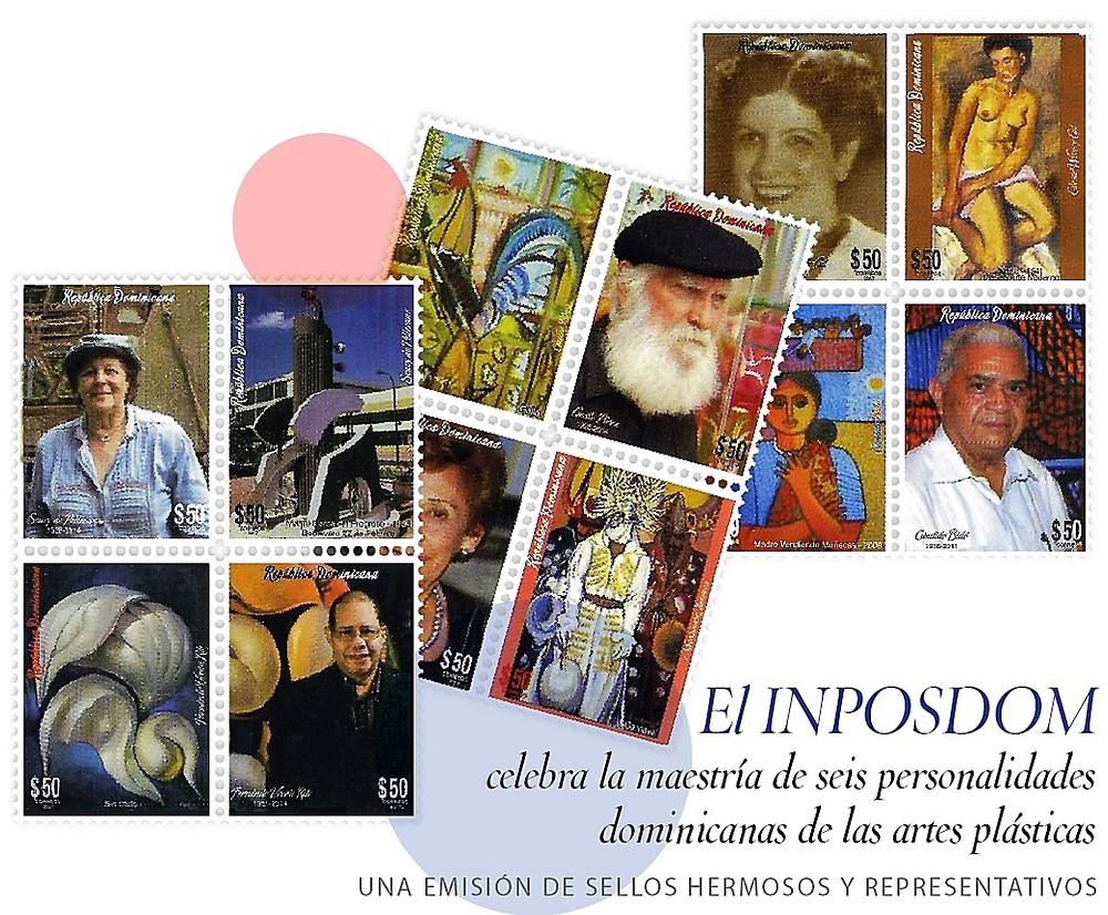 la maestría de seis personalidades dominicanas de las artes plásticas