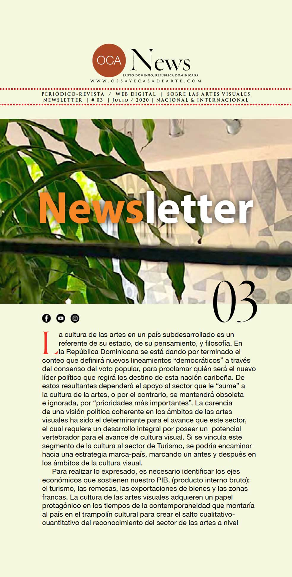 OCA|Newsletter / 03 / Julio, 2020