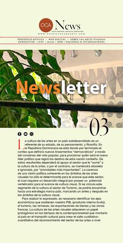OCA|Newsletter / 03 / Julio, 2020