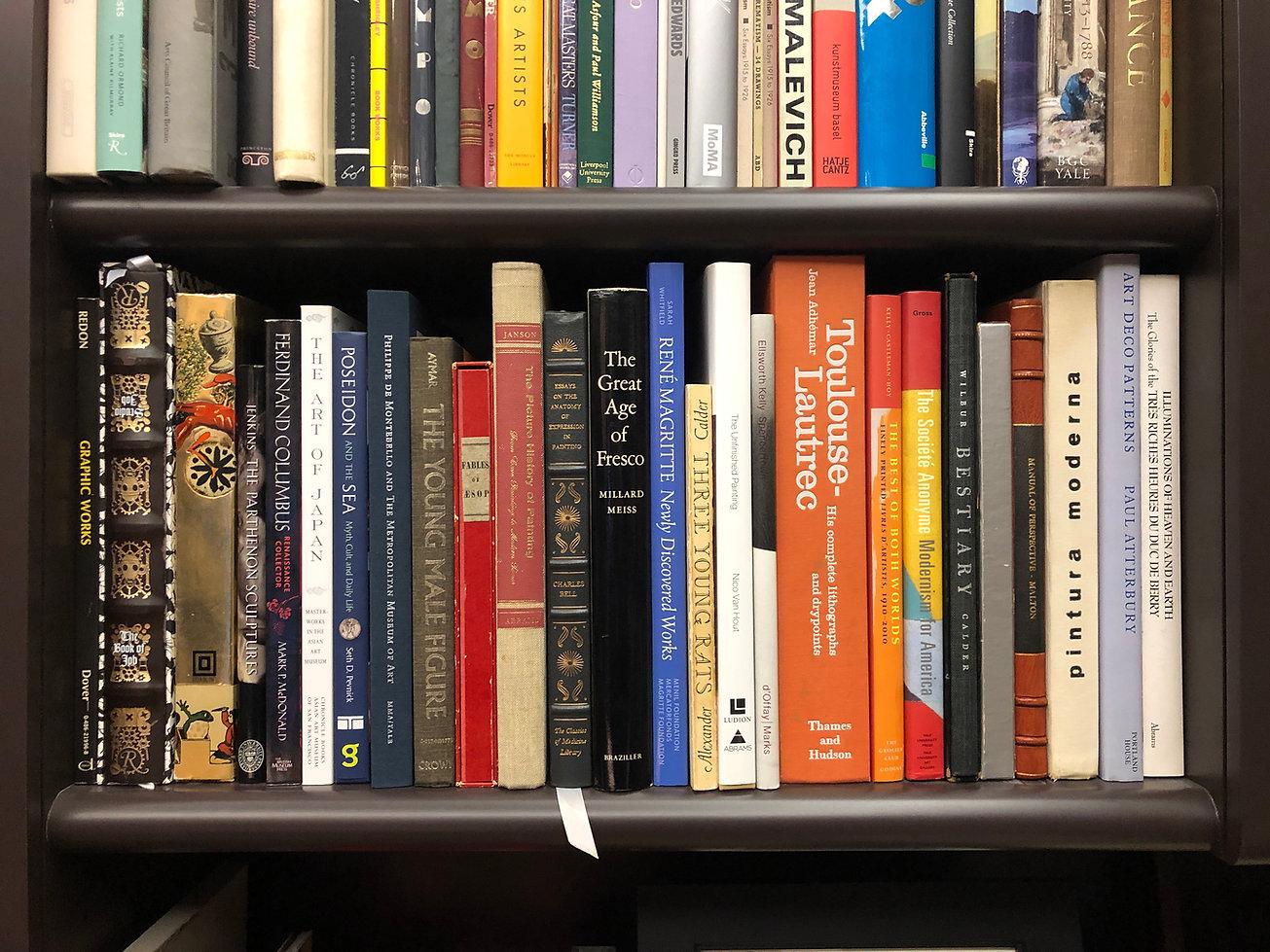 Bookshelf in Dr. Peter Bullough's library