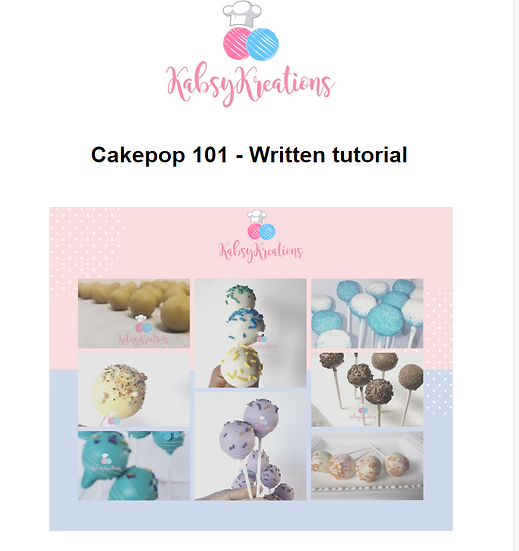 Cakepop 101 Written Tutorial