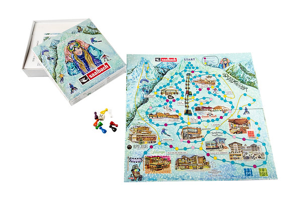 """Board game """"one day in Saalbach"""""""