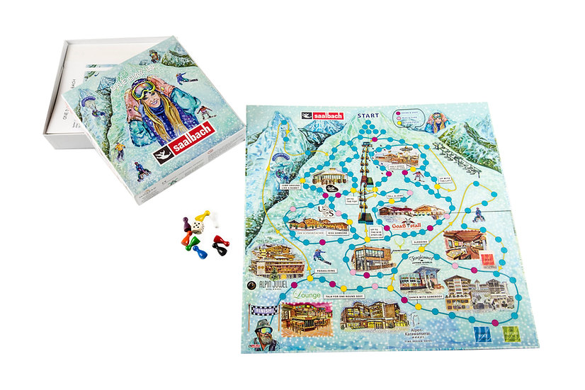 "Brettspiel ""one day in Saalbach"""