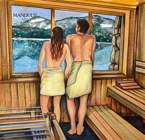 Sauna mit Seeblick