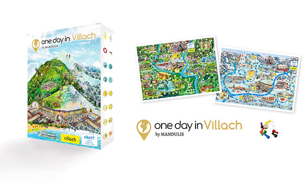 """Board game """"one day in Villach"""""""