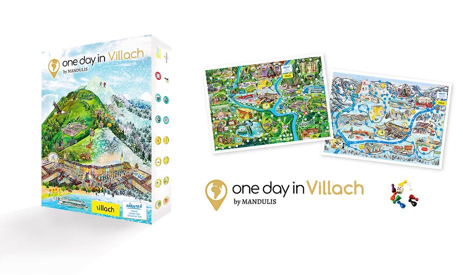 "Board game ""one day in Villach"""