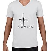 Playeras con frases de Vino. Wine Not México. T shirts con frases alusivas al vino. Game of Thrones