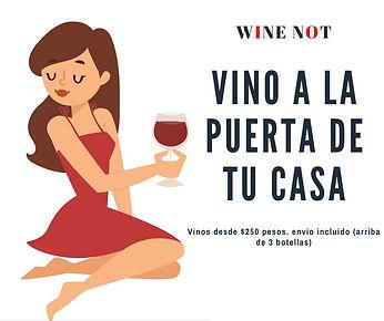 Quédate en casa. Vinos a domicilio. Pago on line fácil y seguro. Wine Not Mexico