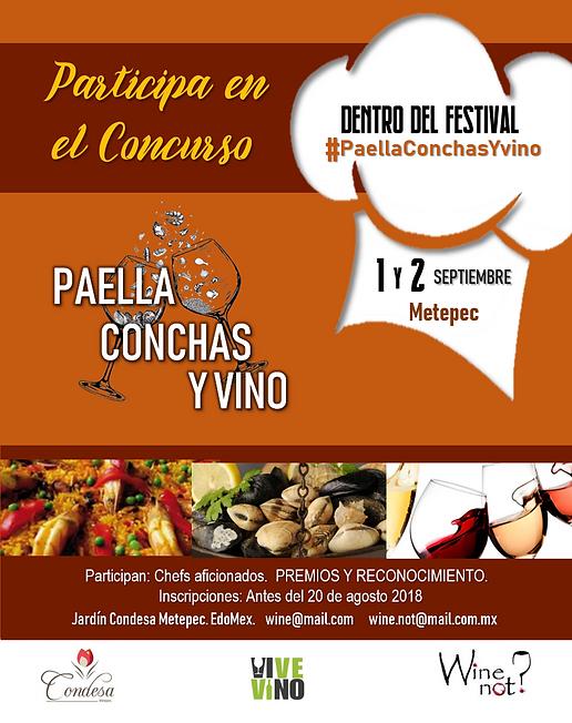 flyer convocatoria chefs wine not mexico