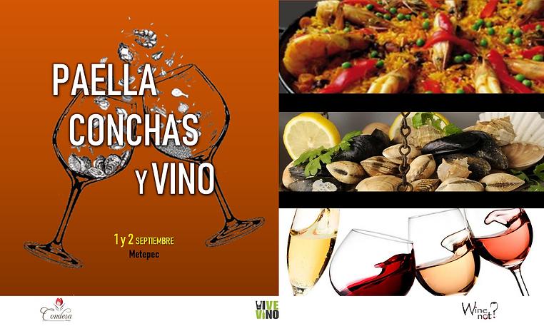 arte digital paella conchas vino wine no