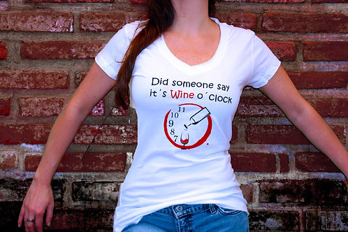 Playera Wine o clock
