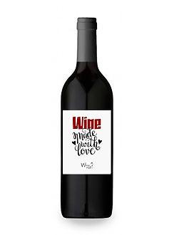 botella de vino dia del amor y la amistad etiqueta personalzada