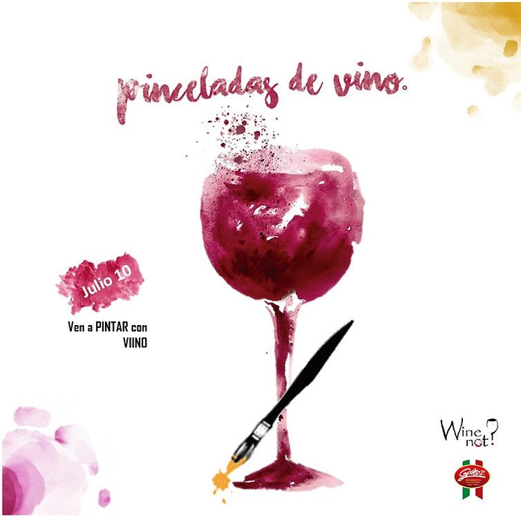 Pinceladas de Vino. Pinta con Vino. Taller de Pintura con Vino. Wine Not México.