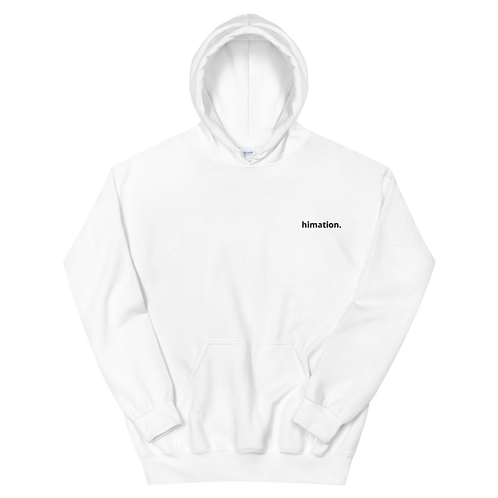 HIMATION. - SIMPLE WHITE HOODIE