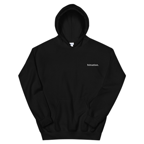 HIMATION. - SIMPLE BLACK HOODIE