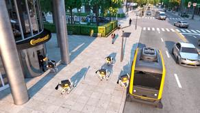 德國運輸行業製造商Continental 發表機器物流狗 自駕車搭配機器狗作為快遞