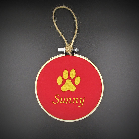 Pawprint Decoration (Red)