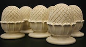Custom hand carved pineapple finials ,custom sized to fit their required project