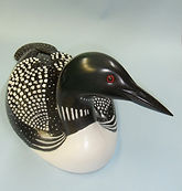 Life size Loon woodcarving