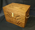custom carved donation and sympathy card box
