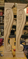 carved cherry corbel, island corbels, bar corbels,cherry wood corbels