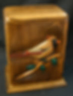 Female Cardinal cremation urn