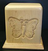 butterfly urn,butterfly cremayion urn,butterfly funeral urn , hand carved butterfly urn,carved butterfly urn,houles custom woodcarving