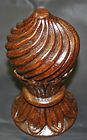 spiral twist finial,carved finials,oak spiral twist finial,spiral finial,wooden finial,oak finial,carved finial, hand carved finial ,Houle s custom woodcarving