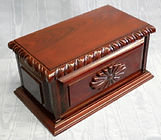 Millenium cherry funeral urn, hand carved funeral urns