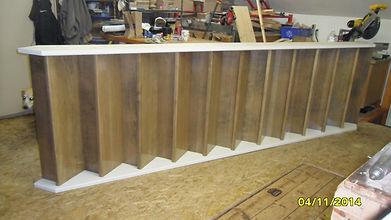 Custom maple wood staircase