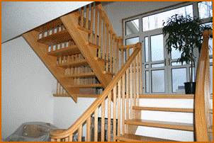 Custom endless railing with inclining volutes