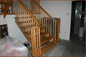 Custom Oake stair and railing