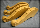 carved pedestal leg