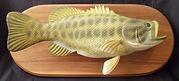 custom carved bass fish keepsake