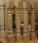 carved acanthus newel post,carved post,carved newel post, acanthus post,island post,kitchen post , Houles custom woodcarving