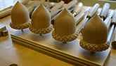 acorn finials,custom carved acorn finials,cherry wood acorn finials,custom carved , houles custom woodcarving
