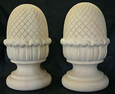 hand carved pineapple finials