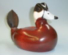 Ruddy Duck carved decoy