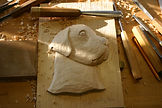 Custom carved Dog cremation urn