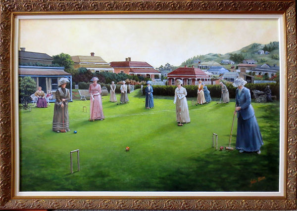Auckland Croquet by Julie Oliver