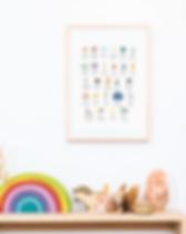 Free Alphabet Wall Hanging   Printable ABC Art Print