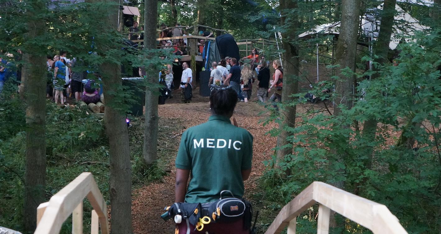 Medic on patrol
