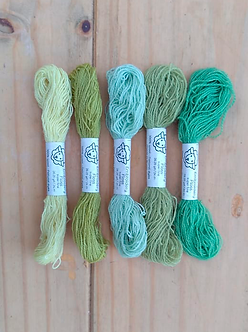 Fio de lã para bordado - Kit Ervas Super Fine | Fios da Fazenda