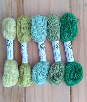 Fio de lã para bordado - Kit Ervas Fine   Fios da Fazenda