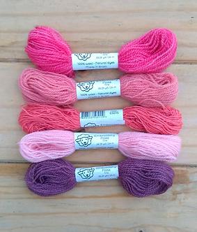 Fio de lã para bordado - Kit Amores Fine | Fios da Fazenda