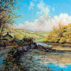 John_Donaldson_Art_Cards_Bowcombe_Creek.