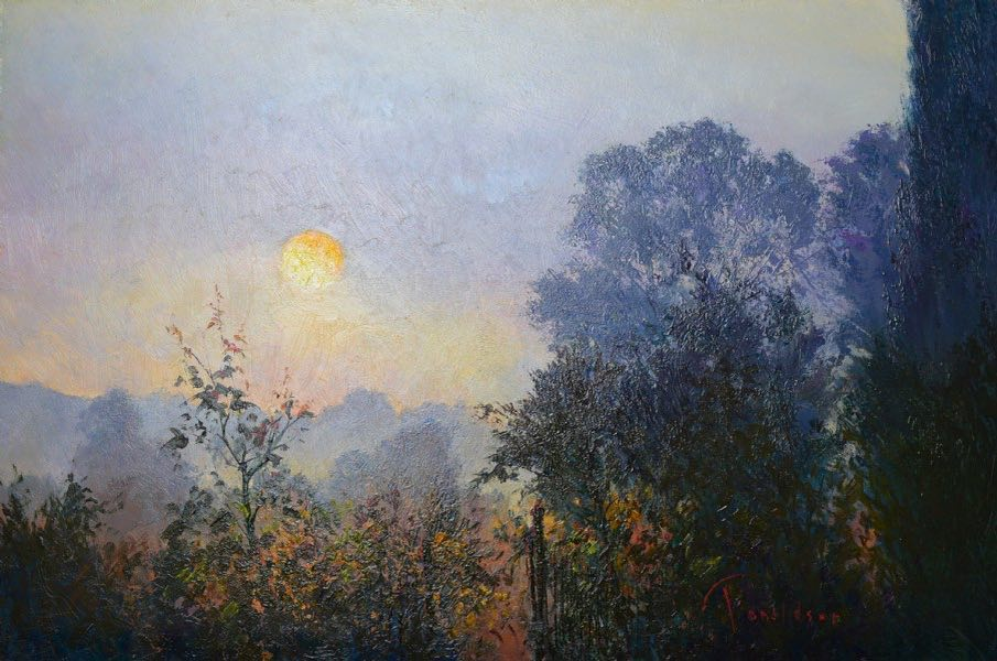 Sunrise At Millcombe Painting
