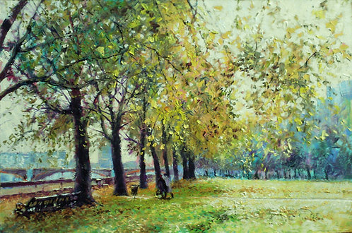 AUTUMN IN VICTORIA GARDENS Painting